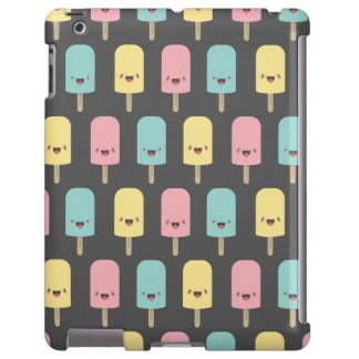 Happy Kawaii Popsicle Ice Lolly Pattern iPad Case