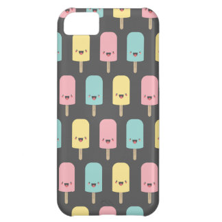 Happy Kawaii Popsicle Ice Lolly Pattern iPhone 5C Case
