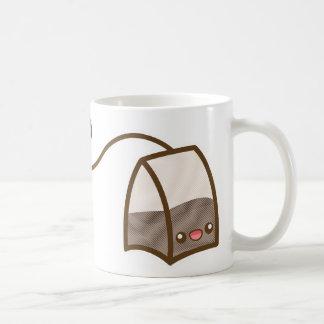 Happy Kawaii Tea Bag Basic White Mug
