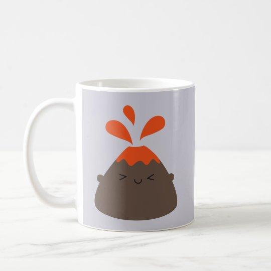 Happy Kawaii Volcano Coffee Mug