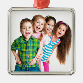 Happy kids spreading joy ornaments