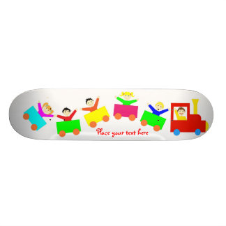 Happy Kids Train 21.3 Cm Mini Skateboard Deck