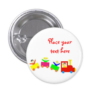 Happy Kids Train 3 Cm Round Badge