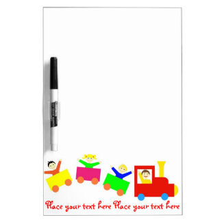 Happy Kids Train Dry Erase Board
