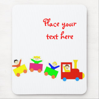 Happy Kids Train Mouse Pad