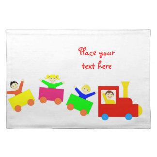 Happy Kids Train Placemat