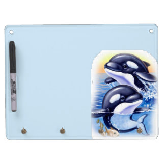 Happy Killer Whales Dry Erase Boards