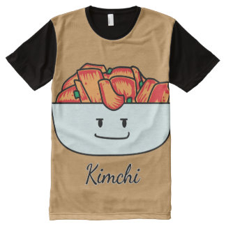 Happy Kimchi Kimchee Bowl - Happy Foods Designs All-Over Print T-Shirt