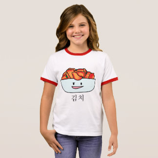 Happy Kimchi Kimchee Bowl - Happy Foods Designs Ringer T-Shirt