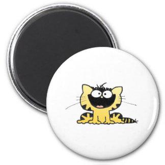 Happy-Kitty 6 Cm Round Magnet