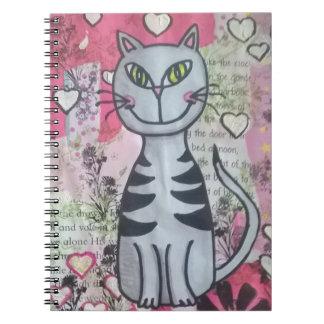 Happy kitty notebook