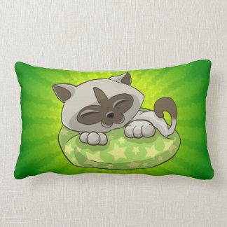 Happy kitty sleepy kitty pillow
