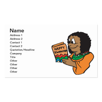 Happy Kwanzaa Double-Sided Standard Business Cards (Pack Of 100)