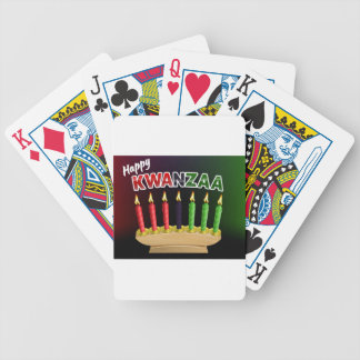 Happy Kwanzaa Candles Design Bicycle Playing Cards