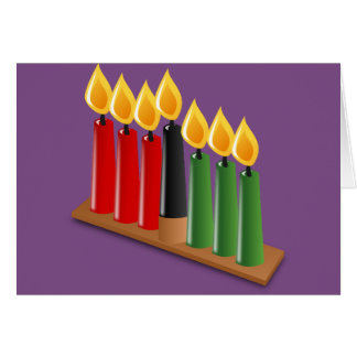Happy Kwanzaa candles Kwanzaa card