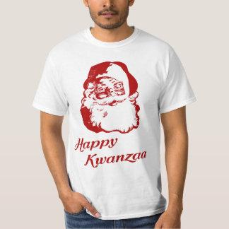 Happy Kwanzaa Christmas Santa Claus Shirts