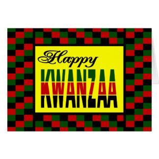 Happy Kwanzaa With Red, Black, and Green Border Card