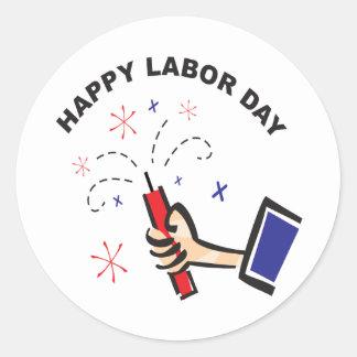 Happy Labor Day Round Sticker