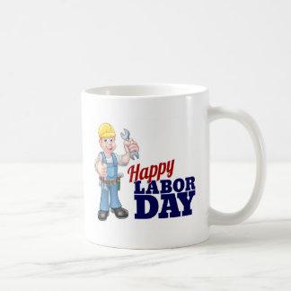 Happy Labor Day Worker Design Coffee Mug