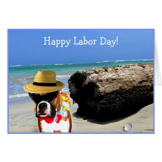Happy Labour Day Boxer greeting card