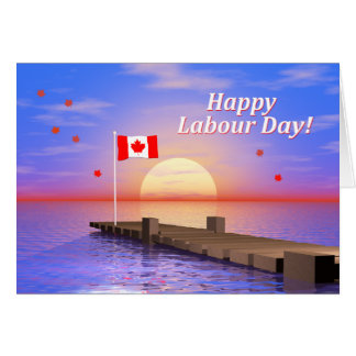 Happy Labour Day Canada Dock Card