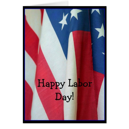 Happy Labour Day Flag greeting card