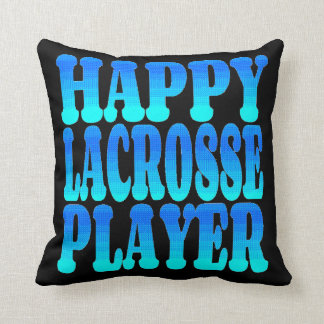 Happy Lacrosse Player Cushion