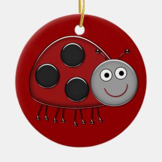 Happy Ladybug Ornament