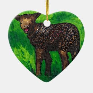 Happy Lamb Christmas Ornament