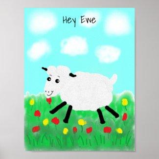 Happy Lamb Poster