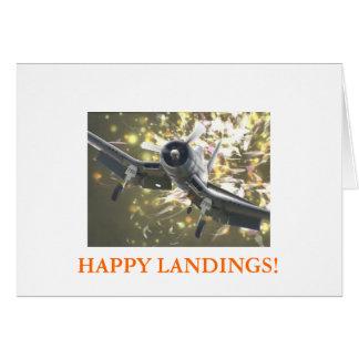 HAPPY LANDINGS! GREETING CARD