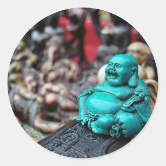 Happy/ laughing buddha! classic round sticker