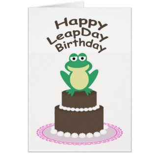 Happy Leap Day Birthday Cards