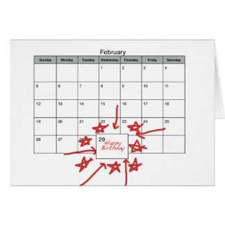 Happy Leap Day Birthday Greeting Card