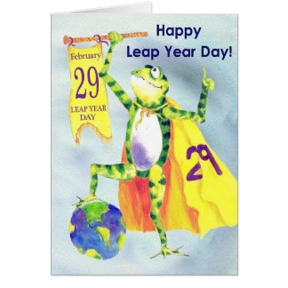 Happy Leap Year Day Greeting Card