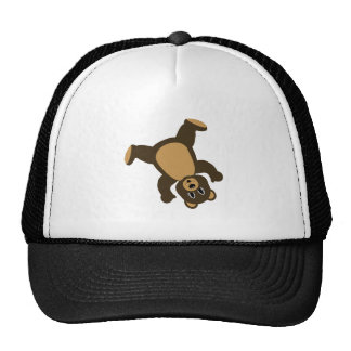 Happy Left Tumbling Brown Bear Trucker Hat