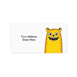 Happy leopard address label
