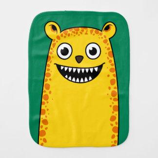 Happy leopard burp cloth