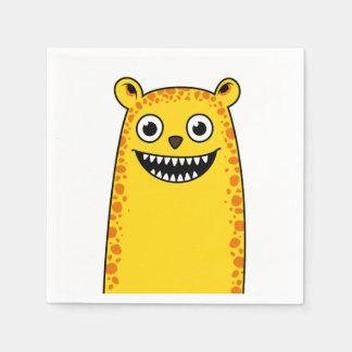 Happy leopard disposable napkins