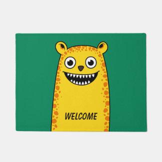 Happy leopard doormat