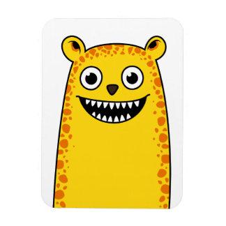 Happy leopard magnet