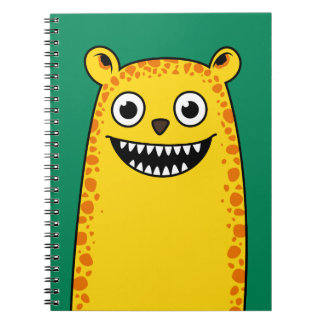 Happy leopard notebook