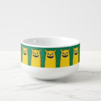 Happy leopard soup mug