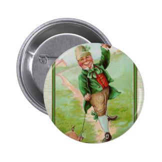 Happy Leprechaun 6 Cm Round Badge