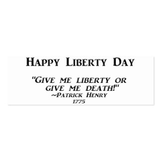 Happy  Liberty Day Business Card