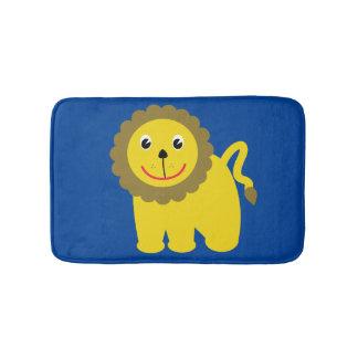 Happy lion bath mats
