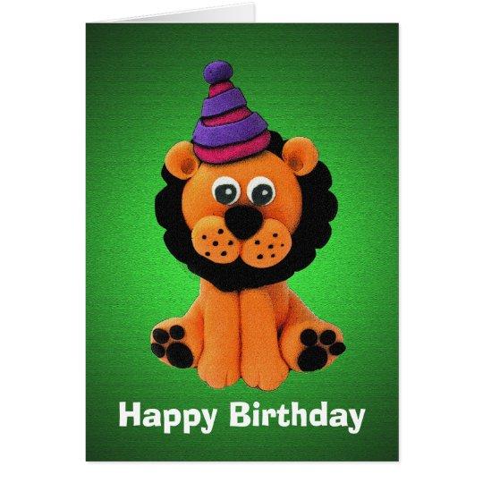Happy Lion Birthday Card