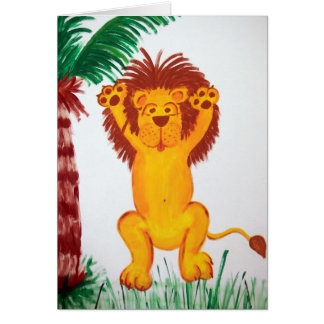 Happy Lion Card