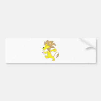 Happy Lion Drinking Bumper Stickers