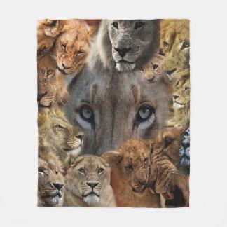 Happy Lions Fleece Blanket